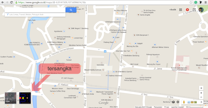 pacman di google map